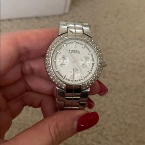 Fossil BQ-9291 All Stainless Steel Quartz Watch